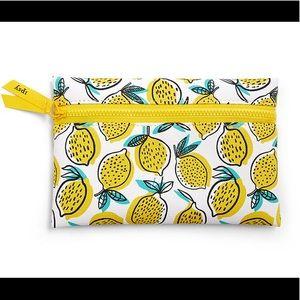 🆕 Lemon Graphic Print Cosmetic Glam Bag